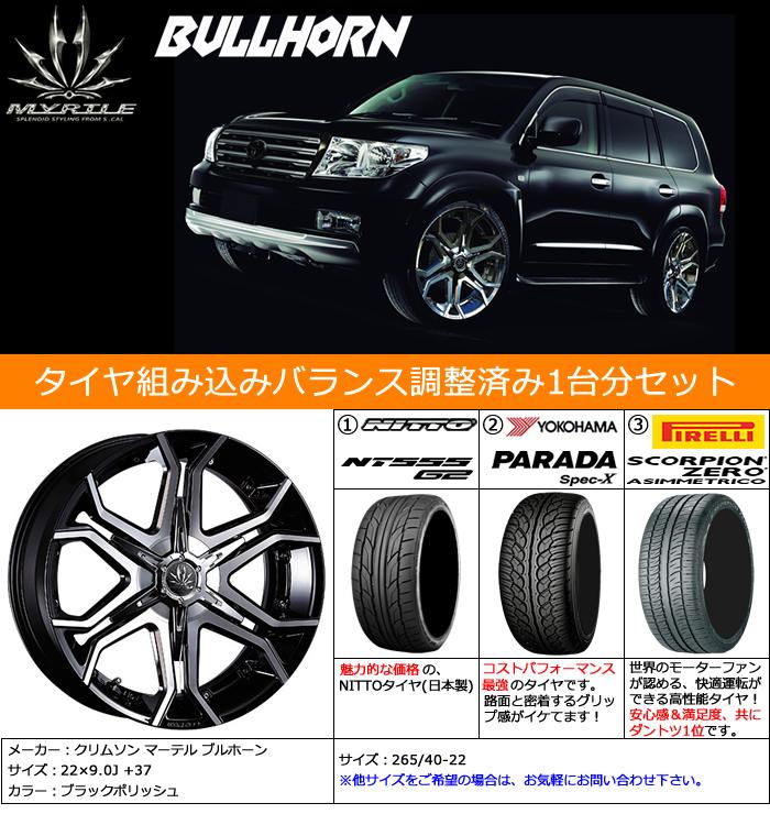 レクサス RX用 ホイール&タイヤセット(マーテル ブルホーン・22インチ)