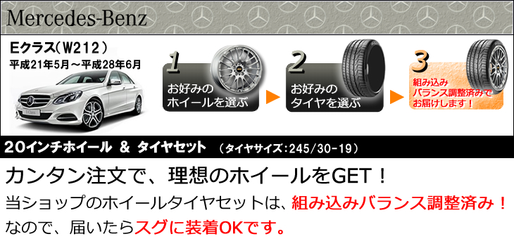 ベンツEクラス用20インチホイール&タイヤセット