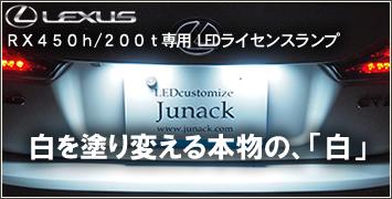 レクサス RX専用 LEDライセンスランプ